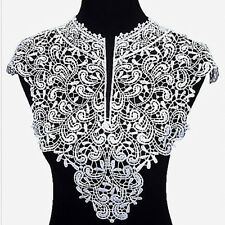 1pc Front and Back Large Lace Collar Fashion Fake Collar Flowers Lace Neckline