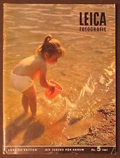1967 LEICA MAGAZINE Vintage Photography LITTLE GIRL BEACH cover Lecureuil camera