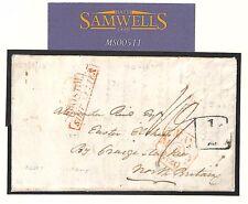 MS511 1820 TOBAGO HISTORIC LETTER Scotland ADD HALF *Bristol Ship Letter* Superb