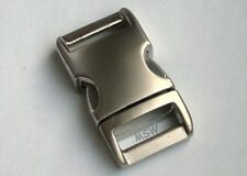 Edler Metall klickverschluß Aluminium satiniert 15mm ohne Versteller