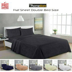 300TC Thread Count 100% Egyptian Cotton Flat Bed Sheets Double Bedding Size