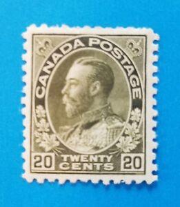 Canada stamp Scott #119 MH well centered original gum. Good margins. HR. Nice.