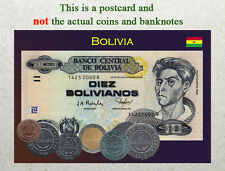 Postcard: Bolivia Circulating Currency (Banknote) 2013