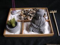 """Deko-Set """"Zen-Garten"""", Buddha, Feng Shui Dekoration, Bambus-Holz"""