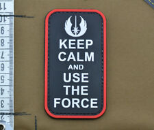 "PVC / Rubber Patch ""Keep Calm and Use the Force"" with VELCRO® brand hook"