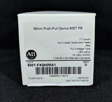 ALLEN BRADLEY 800T-FXQH2RA1 30.5mm Type 4/13 2 Pos. PB-Illum., Push-Pull, Red