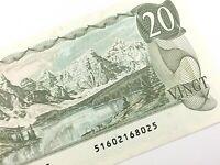1979 Canada 20 Dollar Twenty Dollar Uncirculated 516 Thiessen Crow Banknote R215