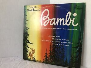Walt Disney's Bambi LP Vinyl 1963. Record In Good Conditin.