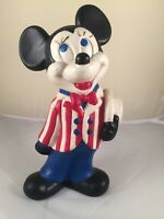 Vintage walt disney productions ceramic hand painted mickey mouse 12""