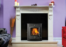 17kw Inset Boiler Stove Wood Burning Multi Fuel Contemporary Modern Stoves
