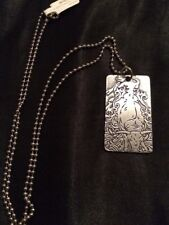 """Good Ride Dogtag Necklace Horse /bull Show Riding Pewter 14"""" """"Bull"""""""