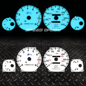 FOR 95-99 NISSAN MAXIMA V6 3.0 VQ30 A32 INDIGLO GLOW GAUGE DASH FACE EL CLUSTER
