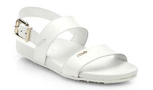 100%authentic Fendi Logo Strappy Flat Patent Leather Sandal size 8/38 reg $550