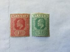 St Lucia Old Stamps Lot Mint Hinged