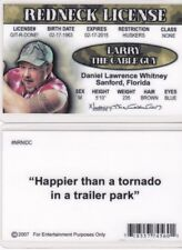 REDNECK MAN Larry the CAble Guy fun novelty fake ID Card Drivers's License