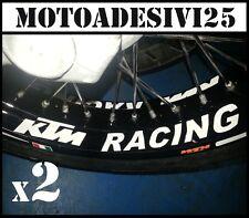 2 adesivi interno cerchio KTM RACING Super Duke 1290 690 390 125 grafiche moto