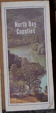 1985 AAA Road Map of the North Bay Counties