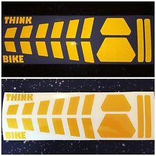 REFLECTIVE yellow SAFETY strip Motorcycle Helmet Sticker HiViz France THINK BIKE