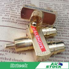 AV Audio Splitter Plug RCA Y Adapter Converter 1 Male to 2 Female