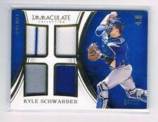Kyle Schwarber Panini Donruss Quad 4x Jersey RC 4/99 Chicago Cubs