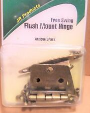 JR Products 70605 RV Motorhome Free Swing Flush Mount Hinge Antique Brass