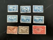 Canada Used Special Delivery/Air Mail E5, C1, C5, C6 (x3), C8, C9 (x2).  CV $20