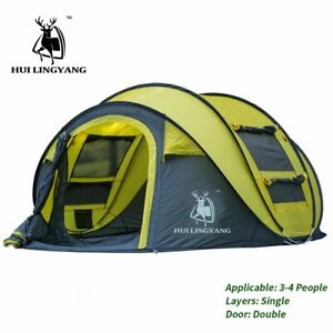 Pop Up Camping Tents Large Capacity Tent 5 Person Hiking Tent Travel Tent