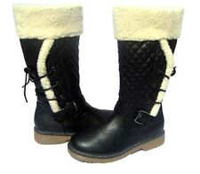New Women's Fashion BOOTS Waterproof Snow Black Ridding shoe Ladies size 7.5