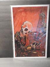 "SIGNED David Lozeau ""El Guitarrista"" Art Print - Skeleton Music Guitar Tattoo"