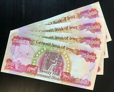 100,000 IRAQ MONEY - IQD (4) 25,000 IRAQI DINAR Notes -AUTHENTIC - FAST DELIVERY