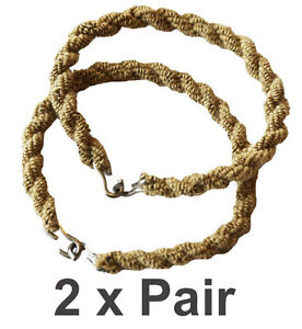 2 x Pairs Trouser Twists Bungee Twist Elastic Leg Army Ties Combat Military Boot