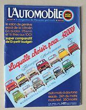 L AUTOMOBILE - SPORT MECANIQUE - MENSUEL N° 335 - AVRIL 1974 *