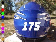 3 inch Custom Dirt Bike Helmet Number Stickers / Vinyl Motocross Decals Numbers
