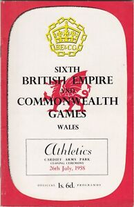 SIXTH BRITISH EMPIRE & COMMONWEALTH GAMES PROGRAMME - ATHLETICS, 26th July, 1958