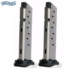 TWO WALTHER PK380 .380 ACP 8 Round Steel Magazines 505600 FAST SHIP