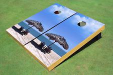 Beach Chairs #1 Cornhole Board Bag Toss set