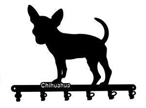 Schlüsselbrett - Chihuahua - design Hunde Hakenleiste aus Stahl - schwarz