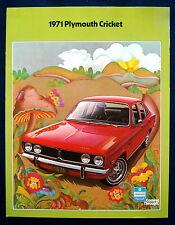 Prospekt brochure 1971 Plymouth Cricket  (USA)
