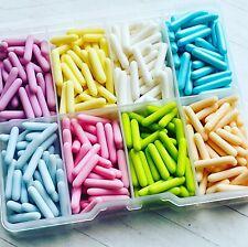Macaroni rods sprinkle Box cupcake toppers, decoration pastel
