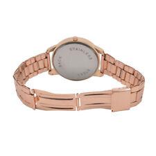 Fashion Women Luxury Crystal Dial Stainless Steel Analog Quartz Wrist Watch