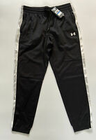 Under Armour Loose Fit Tricot Camo Track Pants Black / White Size XL Pockets