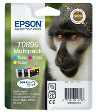 Genuine Epson T0896 Monkey Tripple Pack Ink jet Print Cartridges,T089640 TO89640
