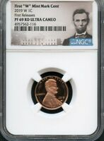 "2019 W First ""W"" Mint Mark Cent FIRST RELEASES NGC PF69 RD U.C. Portrait"