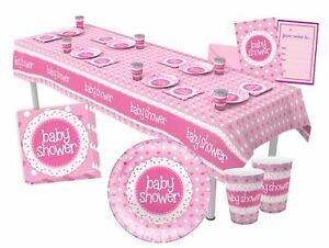 Pink Baby Shower Girl Party Tableware Decorations - Napkin, Plates, Cups, Banner
