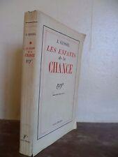 J.KESSEL LES ENFANTS DE LA CHANCE GALLIMARD PARIS 1934 BROCHE IN 12 BE