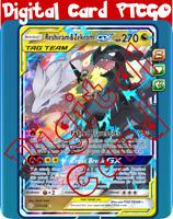 (Digital PlaySet) 4x Reshiram Zekrom GX 157/236 PTCGO Pokemon TCG Online