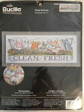 Plaid Bucilla Counted Cross Stitch Kit 43480 Clean & Fresh Clothes Line