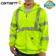 CARHARTT Mens CLASS 3 High-Visibility Zip Front Hoodie Sweatshirt NEW WITH TAGS