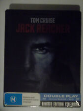 JACK REACHER DOUBLE PLAY / STEEL BOX ( BLU-RAY , 2013 ) LIMITED EDITION SEALED