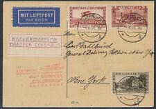 Katapultpost 6.8.1931 Zuleitung Saargebiet Nachbringeflug Columbus (S16718)
